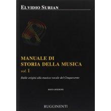 SURIAN E. Manuale di Storia della Musica (vol.I)