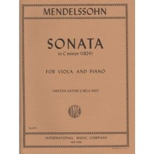 MENDELSSOHN F. Sonata in C minor (1824) for Viola and Piano