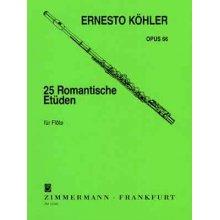 KOHLER 25 Romantische Etuden fur Flote Op.66