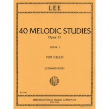 LEE S. 40 melodic studies opus 31 book I