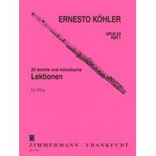 KOHLER 20 leichte und melodische Lektionen fur Flote Op.93 Heft 1