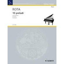 ROTA N. 15 Preludi per Pianoforte