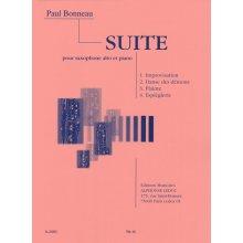 BONNEAU P. Suite pour saxophone alto et piano