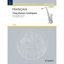 FRANCAIX Cinq danses exotiques (Alto Sax & Piano)