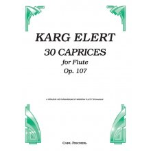 ELERT K. 30 Caprices for Flute Op.107
