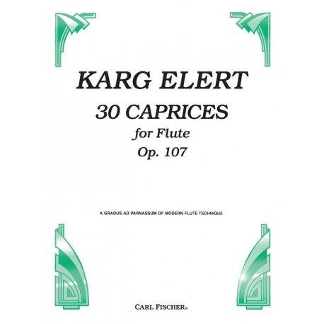 KARG-ELERT 30 Caprices for Flute Op.107