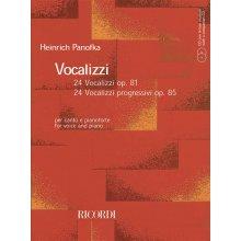 PANOFKA H. 24 Vocalizzi Op.81 - 24 Vocalizzi progressivi Op.85 +CD