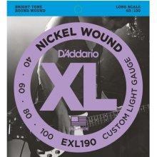 D'Addario EXL190 Custom Light