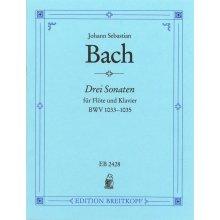 BACH J.S. Drei sonaten fur Flote und Klavier BWV 1033-1035