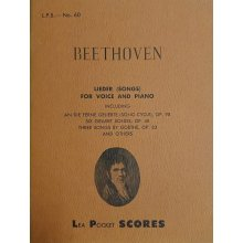 Beethoven L.van Lieder for Voice and Piano