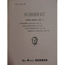 Schubert F. Piano Pieces Vol.1