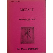 Mozart W.A. Complete Variations for Piano