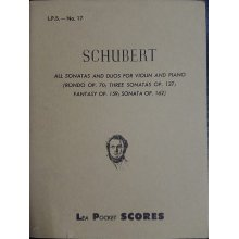Schubert F. Sonatas and Duos for Violin and Piano