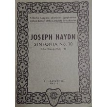 Haydn F.J. Sinfonia n.10 Re maggiore Hob. I:10