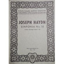 Haydn F.J. Sinfonia n.18 Sol maggiore Hob. I:18