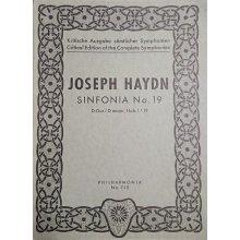 Haydn F.J. Sinfonia n.19 Re maggiore Hob. I:19
