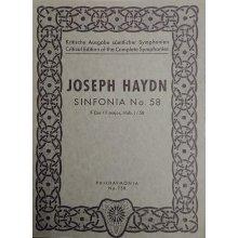 Haydn F.J. Sinfonia n.58 Fa maggiore Hob. I/58