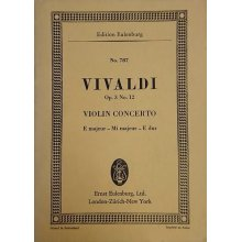 Vivaldi A. Violin concerto E majeur Op.3 No.12