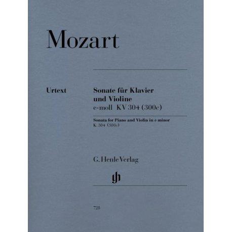Mozart W.A. Sonate fur Klavier und Violine e-moll KV304