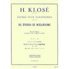 KLOSE H. 25 Exercices de mécanisme