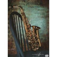 KOECHLIN C. Etudes pour saxophone alto et piano