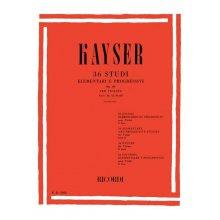 Kayser P. 36 Studi Elementari e Progressivi Op.20 Fasc.2