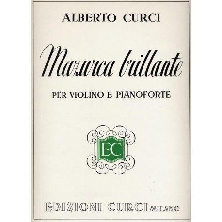 CURCI A. Mazurca Brillante per Violino e Pianoforte