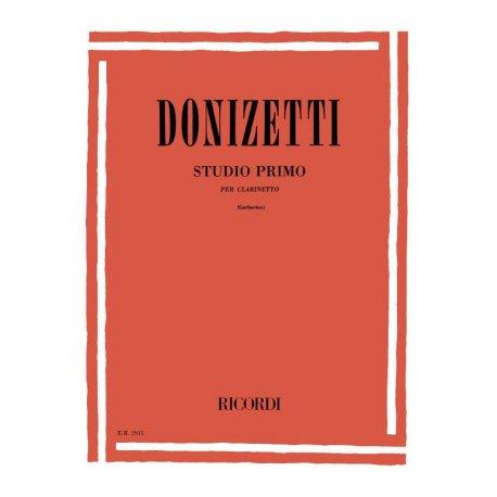 Donizetti G. Studio Primo per Clarinetto (Garbarino)