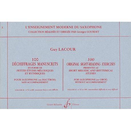 LACOUR 100 Déchiffrages Manuscrits