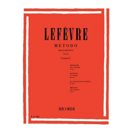 LEFEVRE Metodo per Clarinetto Vol.2