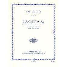 LECLAIR J.M. Sonate en Fa pour 2 Saxophones de meme tonalité