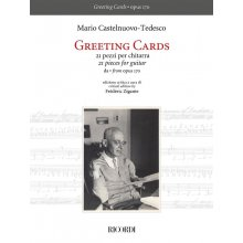 Castelnuovo-Tedesco M. Greetings Cards 21 Pezzi per Chitarra