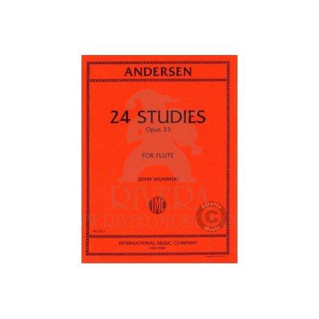 ANDERSEN 24 Studies Opus 33 for Flute (Wummer)