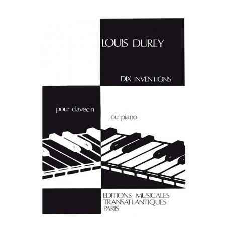 DUREY L. Dix inventions pour clavecin ou piano
