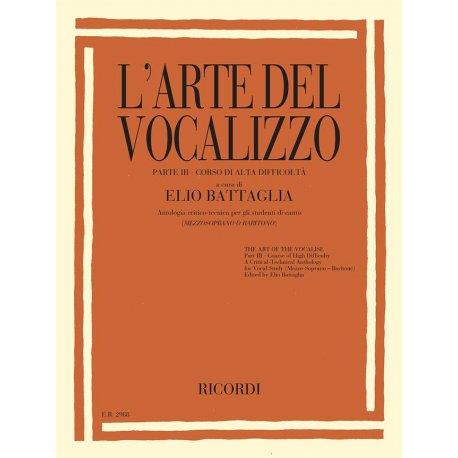 BATTAGLIA L'Arte del Vocalizzo - Parte III (mezzosoprano-baritono)