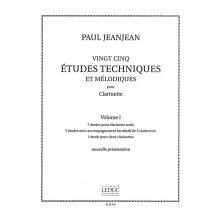 JEANJEAN Etudes Techniques et Melodiques pour Clarinette Vol.1