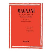 MAGNANI 10 Studi Capriccio di grande difficoltà per clarinetto