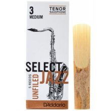 D'Addario Select Jazz Unfiled Tenor 3M